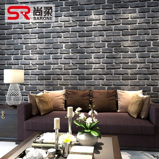 青砖块墙纸白色墙砖壁纸