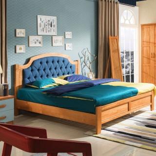 后现代风格实木床1800*2000