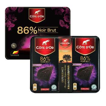 京东商城COTE D'OR克特多 金象 86%可可黑巧克力礼盒装 100g*4块