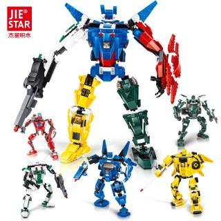玩具拼装积木星积战士变形机器人
