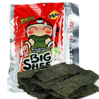 京东商城Tao Kae Noi小老板 大片炸海苔拉链装 辣味 31.5g*10件