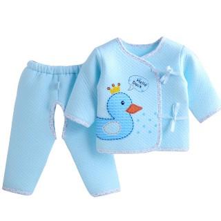 新生儿衣服0-3个月纯棉婴儿保暖衣套装