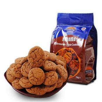 当当网商城烘焙时刻 迷你布朗尼 曲奇/燕麦/巧克力颗粒口味 小饼干75g/袋*3袋