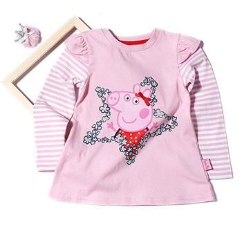 天猫芙瑞诺 小猪佩奇女童纯棉长袖t恤