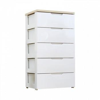 京东商城IRIS爱丽思 HG-555B抽屉收纳整理柜5层白/梨