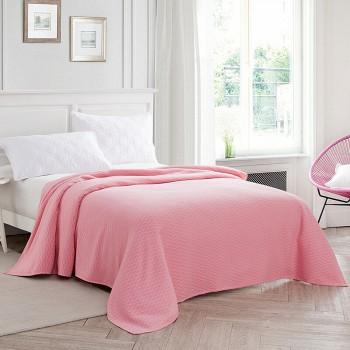 京东商城洁丽雅 中国结毛巾毯盖毯柔软毛巾被 粉 200*230cm