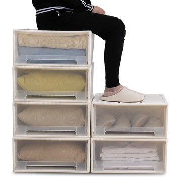 天猫傲家 衣服收纳箱储物箱 5L单个