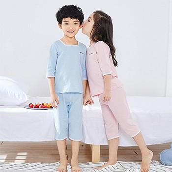 天猫俞兆林 儿童家居睡衣纯棉短袖套装