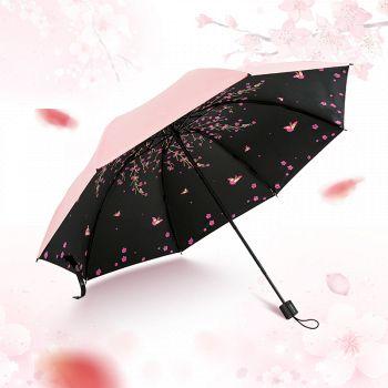 天猫红叶 黑胶防晒防紫外线晴雨伞