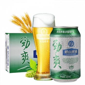 京东商城青岛啤酒 崂山劲爽8度 330ml*24听