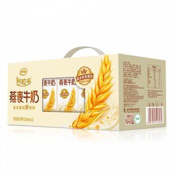 伊利 谷粒多颗粒燕麦牛奶200mL*12盒(早餐奶)*2提