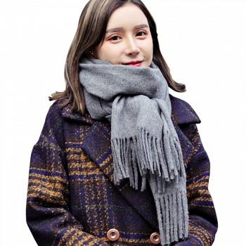 天猫恒源祥 女士含羊毛围巾