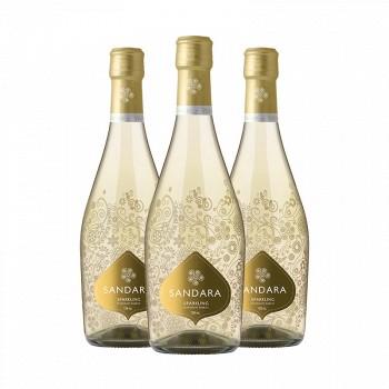 情人节礼物: 桑德拉 甜白起泡酒750ml*3瓶