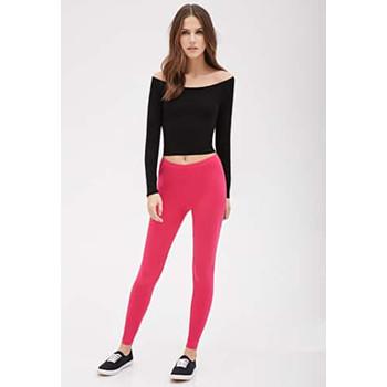 天猫Forever21 女士经典基本款显瘦弹力打底裤