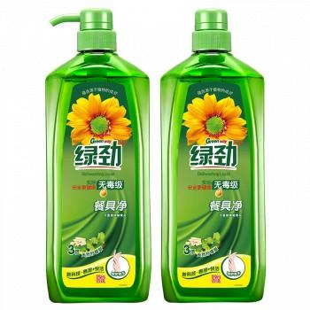 京东商城绿劲 餐具净 天然柠檬草 1.28kg×2 *2套