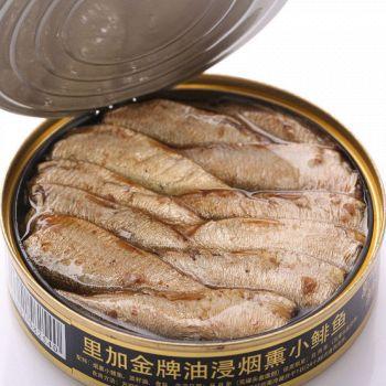 天猫Riga Gold 里加 金牌油浸烟熏小鲱鱼 160g*3罐 *2件