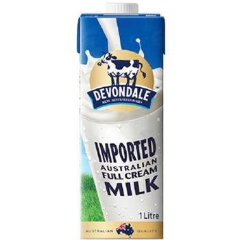 德运 全脂纯牛奶1L
