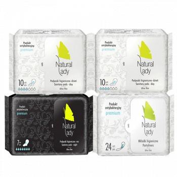 NaturalLady 汉方草本 卫生巾/护垫组合51片*4包