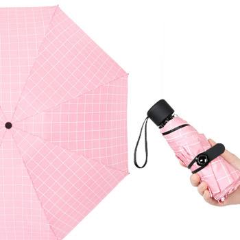 Quail 格子五折八骨伞