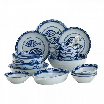 京东商城樱之歌 碗盘碗碟餐具套装釉下彩礼盒包装