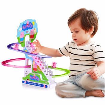 天猫DODOELEPHANT豆豆象 小贝猪爬楼梯轨道电动音乐玩具