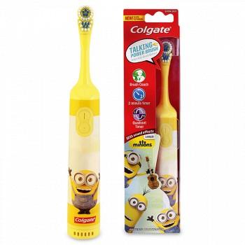 高露洁 小黄人儿童电动牙刷 欧乐b牙膏 牙线棒