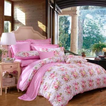 京东商城FUANNA富安娜 纯棉印花床单四件套全棉1.8米床适用