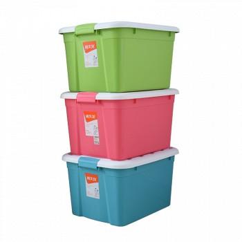 京东商城Citylong禧天龙 塑料收纳箱整理箱52L*3个装 混色