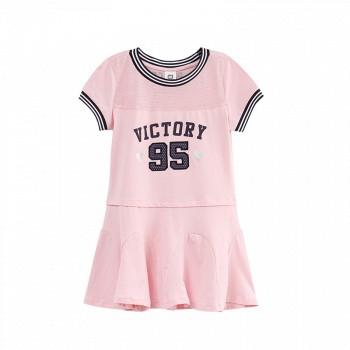 小猪班纳童装女童公主裙*3件,采用优质面料,舒适亲肤,精细做工,胸前