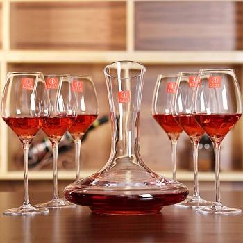 京东商城手工之家 人工吹制水晶红酒杯酒具套装