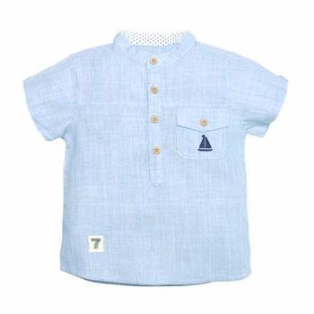 Purrfect diary咕噜日记 1-8岁儿童立领刺绣帆船衬衫
