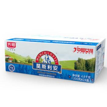 苏宁易购光明 莫斯利安原味酸牛奶200g*24盒+可口可乐汽水330ml*6罐*2件