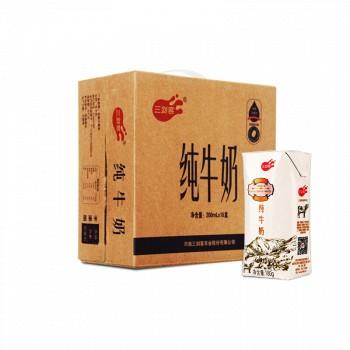 京东商城三剑客 钻石包 纯牛奶 200ml*16盒