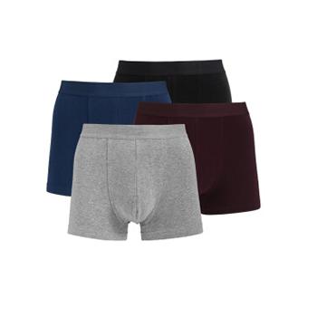23日22点:京造 男士平角内裤 4条装