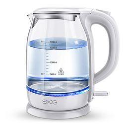 天猫SKG 8082 煮茶养生高硼硅玻璃电水壶 1.7L