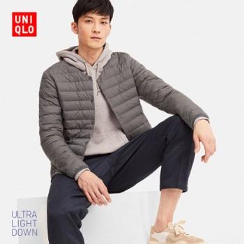 双11预售:UNIQLO 优衣库 UQ409322 男士高级轻型羽绒便携式茄克