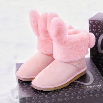DUEPLAY Everugg联名款 兔子耳朵雪地靴