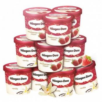 Haagen-Dazs 哈根达斯 冰淇淋 87g*10杯 混合口味
