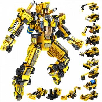 京东商城潘洛斯 12 in1 黄色变形机甲 高达 557颗粒