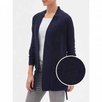 天猫Gap 女士纯色中长款纯棉毛衣外套开衫