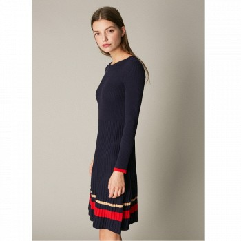 天猫双11预售:C&A 女装针织罗纹弹力修身连衣裙