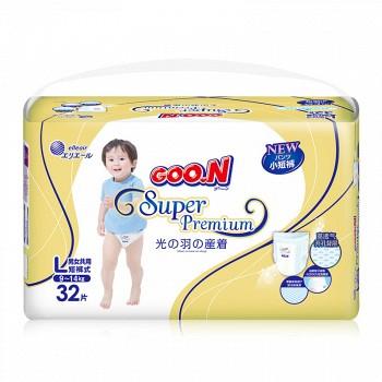 GOO.N 大王 光羽系列 婴儿尿裤 L32片 *3件