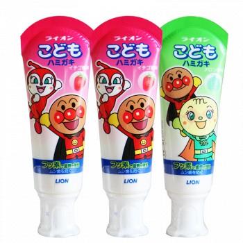 京东商城Lion 狮王 儿童牙膏 三支装 *2件+凑单品