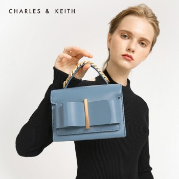 京东商城三色可选:CHARLES&KEITH 女士蝴蝶结翻盖手提单肩包