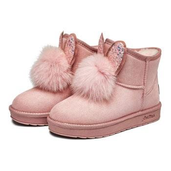京东商城YEARCON 意尔康 女士甜美兔耳雪地靴 *2件