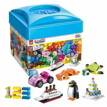 多颜色多块数,可以拼出多种创意造型,数字创意,动物创意,交通工具创