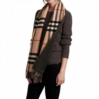 BURBERRY 博柏利 4043759 中性款格纹羊绒围巾