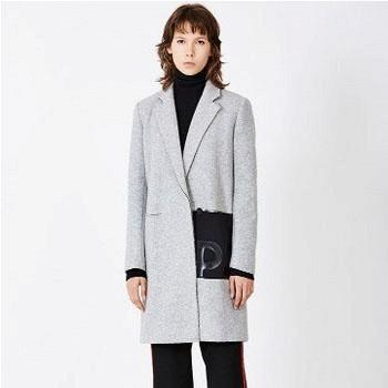 京东商城MO&Co. 摩安珂 MA154OVC05 女士羊毛混纺大衣