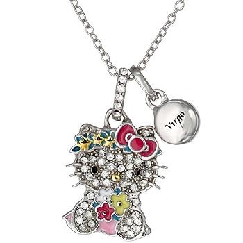 Hello Kitty 十二星座纯银项链