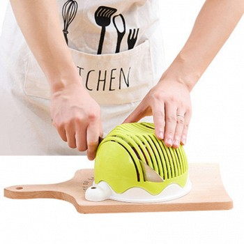 抖音!蔬菜水果沙拉切割碗